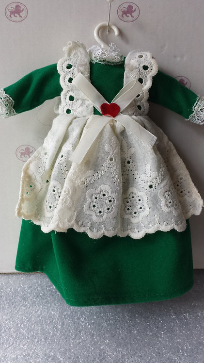 Green Dress with White Apron