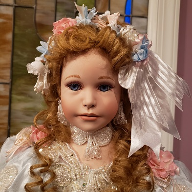 "Sherri  32"" Porcelain Doll by Rustie and Patricia Rose - MIB - Never Removed"