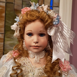 """Sherri  32"""" Porcelain Doll by Rustie and Patricia Rose - MIB - Never Removed"""
