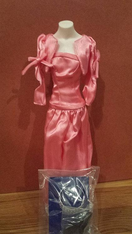 Pink Satin Gown for Princess Diana - Danbury Mint