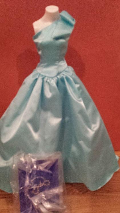 Blue Satin Gown for Princess Diana - Danbury Mint