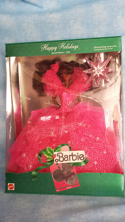 African-American Barbie - Happy Holidays - NRFB