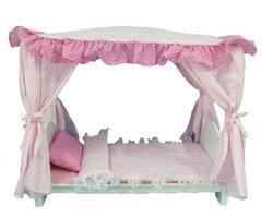 Canopy Bed for 18 inch Dolls