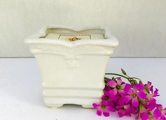 7oz  Square Fleur Ceramic