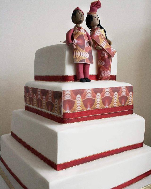 Aso ebi traditional cake