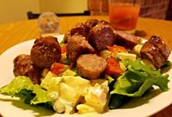 Salad Meal featuring Salsichão