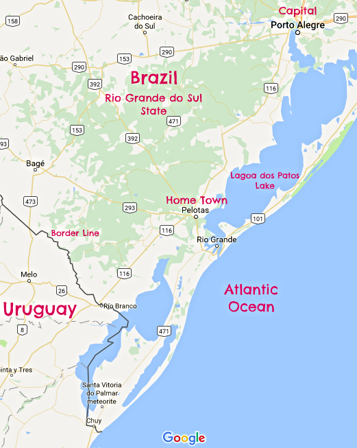 Gaucho's food adventure Map