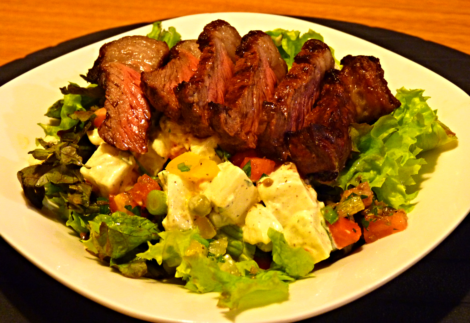 Salad Meal featuring Picanha