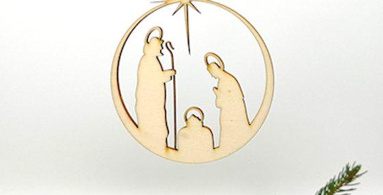 Hänger Kugel Maria und Josef klassisch