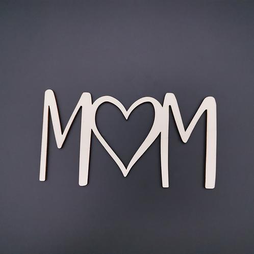 """Schriftzug """"MOM"""""""