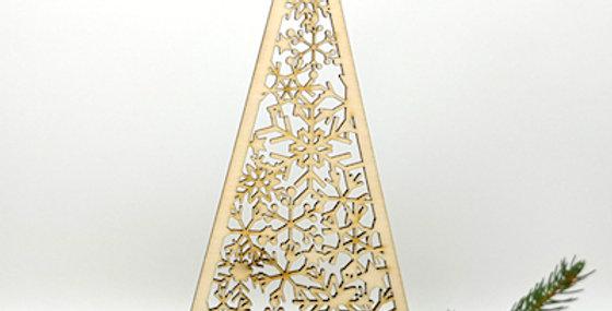 Hänger Christbaum mit Schneeflocken