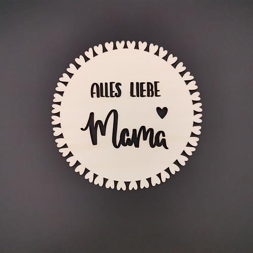 """Blumenstecker Ornament """"Alles Liebe Mama"""""""