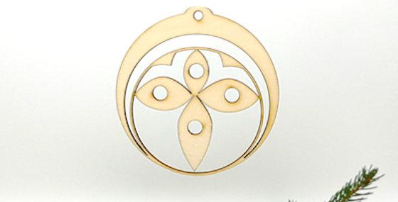 Hänger Kugel Blume (Kreuz)