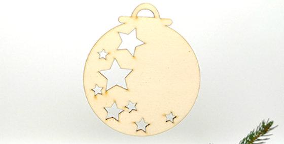 Hänger Kugel mit Sternen