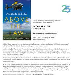 Sat 24th July 11am - 'Above the Law' Book Signing