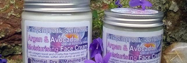 Argan & Avocado Moisturising Face Cream ~ Special Botanical Blend