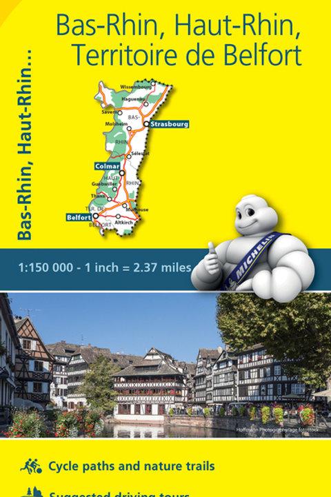 Bas Rhin Haut Rhin Belfort Map