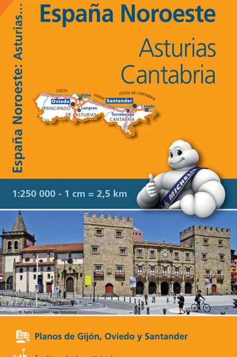 Asturias Cantabria REGIONAL Map 572