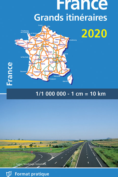 France Route Planning 2020 - Michelin National Map 726
