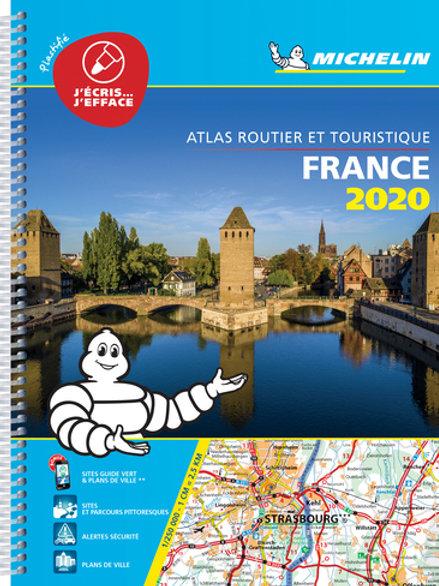 France 2020 -Tourist & Motoring Atlas A4 Laminated Spiral