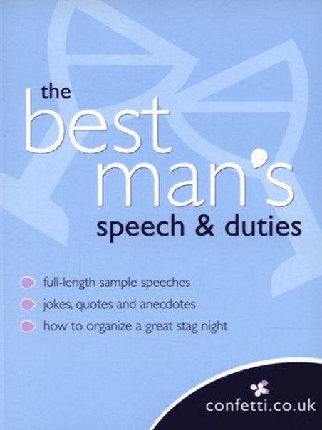 Best Man's Speech and Duties
