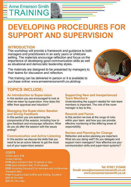 Developing Procedures for Support & Supervision