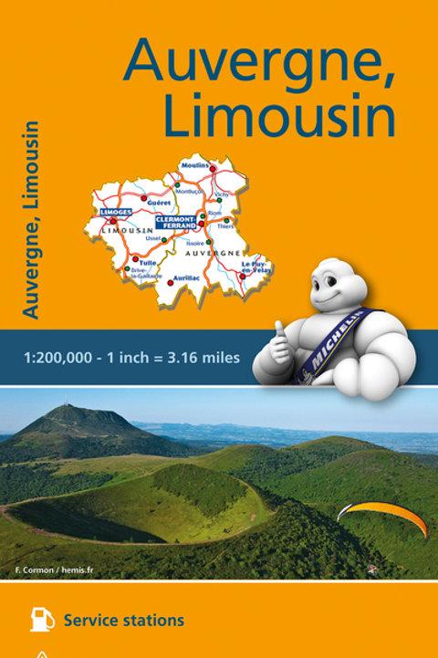 Auvergne Limousin Map