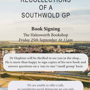 Book Signing 11am -  Friday 25th September