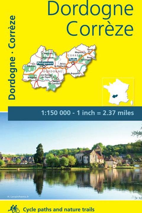 Corrèze Dordogne Map