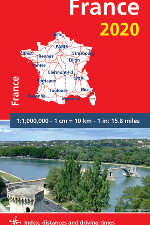 France 2020 - Michelin National Map 721