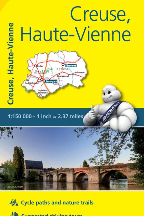 Creuse Haute Vienne Map