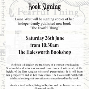 Saturday 26th June - 'The Fearful Thing' Book Signing