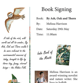 Sat 29th May - Melissa Harrison Book Signing