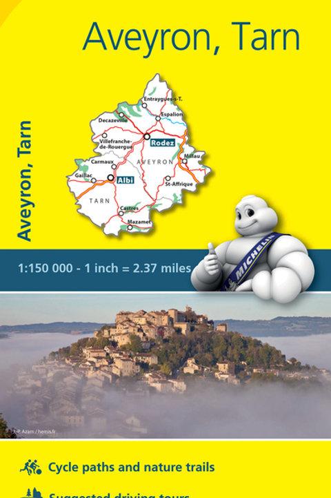 Aveyron Tarn Map