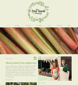 The Tiny Tipple Co website