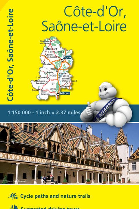 Côte D Or Saône Et Loire Map
