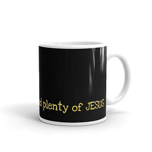 A little coffee and plenty of Jesus mug