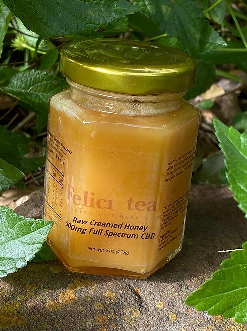Raw Creamed 500mg Full Spectrum CBD Honey
