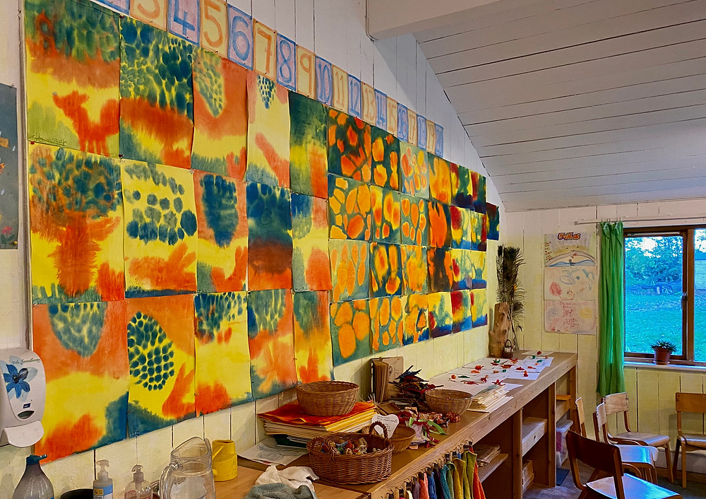 Wet on Wet Paintings at New School, Canterbury