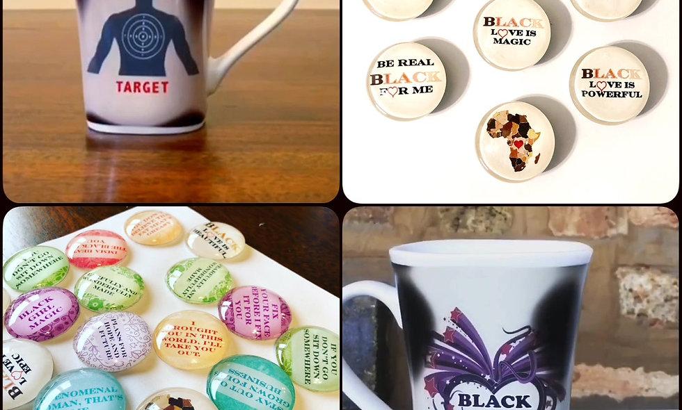 Exclusive Transformation Mug AND Decorative Magnet Set