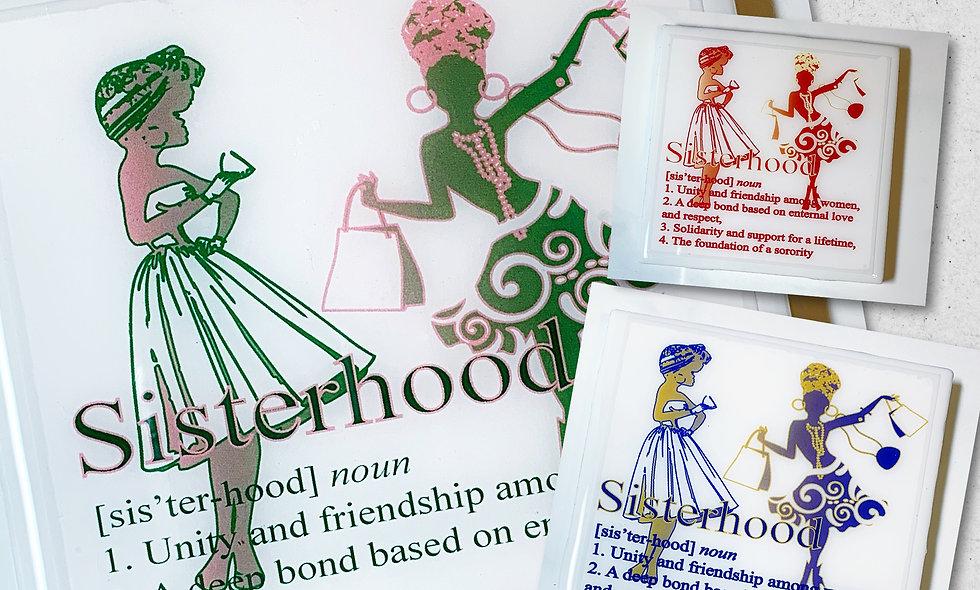 Sisterhood Resin Coated Photo Coaster