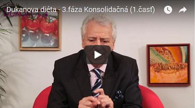 Video 4 fázy Dukanovej diéty: 3.fáza - konsolidačná