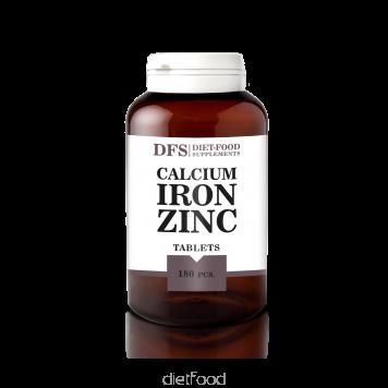 diet-food Calcium-fer zinc 180 gellules