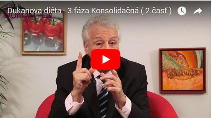 Video2- 4 fázy Dukanovej diéty: 3.fáza - konsolidačná