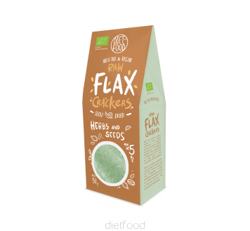3 Bio flax crackers wich seeds and herbs