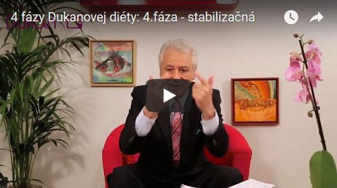 video 4 fázy Dukanovej diéty: 4.fáza - stabilizačná