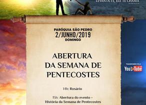 Começa hoje em Taguatinga as celebrações de Pentecostes