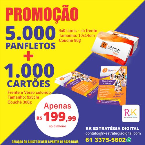 Impressão de Panfletos e cartões - Gráfica em Taguatinga