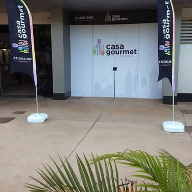 Placa fachada loja em adesivo. Gráfica em Brasília DF