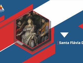 Santa Flávia Domitila, sofreu maus tratos e foi martirizada